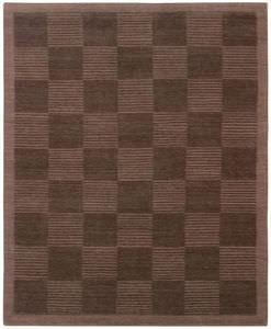 Contemporary Rug / Plaid / Wool / Rectangular
