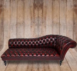 Chesterfield chaise longue / fabric - PARISIAN - Kingsgate Furniture ltd