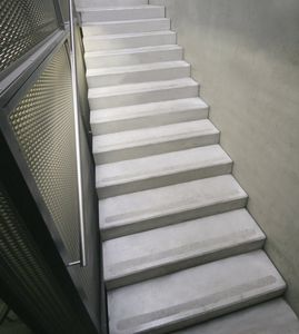 Straight Staircase / Half Turn / Concrete Steps / Concrete Frame