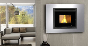 Pellet Heating Stove / Contemporary / Steel / Wall Mounted