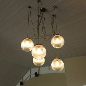 Pendant Lamp Traditional Brass Glass