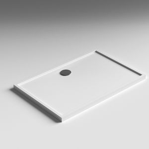 rectangular shower base solid surface with extraflat drain