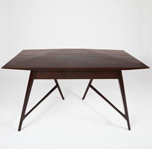 solid wood desk wenge design