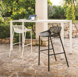 Contemporary Bar Stool / Cast Aluminum / Contract / Garden