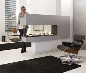3-sided fireplace, 3 sided fire-place - All architecture and ...