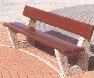 Public Bench / Contemporary / Exotic Wood / Concrete