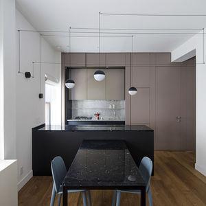 kitchen steel laminate stone