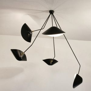 Contemporary Ceiling Light / Brass / Adjustable / By Serge Mouille