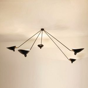 Contemporary Ceiling Light / Metal / Adjustable / By Serge Mouille