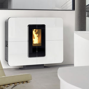 Pellet heating stove / contemporary / metal - MOOD - THERMOROSSI ...