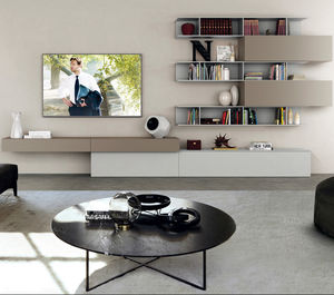 Contemporary Living Room Wall Unit / Melamine