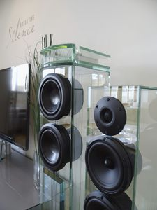 tower speaker / glass & Glass speaker - All architecture and design manufacturers