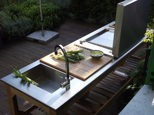 garden kitchen contemporary steel stainless steel - Garden Kitchen