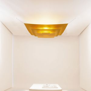 Japanese paper ceiling light all architecture and design manufacturers contemporary ceiling light square polyester japanese paper aloadofball Gallery