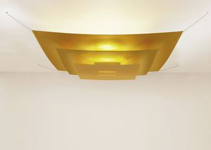 Paper Ceiling Lights: contemporary ceiling light / square / polyester / Japanese paper,Lighting