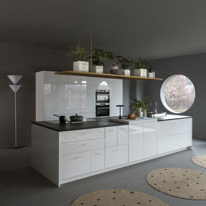 Contemporary Kitchen / Laminate / Island / Lacquered