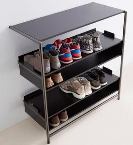shoe rack sheet steel chrome