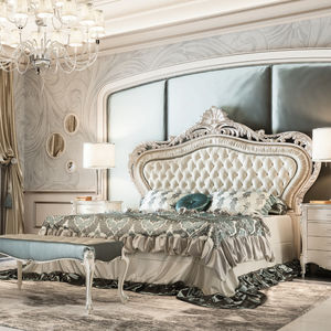 double bed classic with upholstered headboard fabric