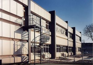 Exterior staircase / spiral / for commercial buildings