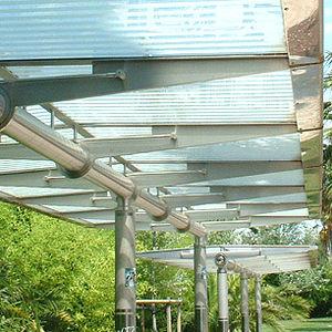 Fiberglass bus shelter / metal