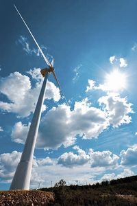 Horizontal axis wind turbine / three-bladed / onshore