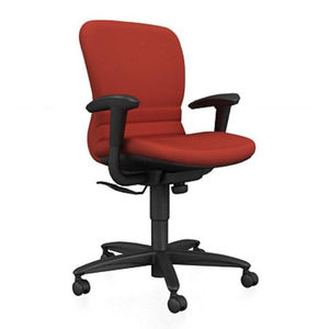 Office chair / with casters / with armrest