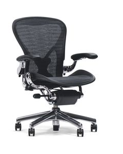 Office chair / contemporary / mesh / with casters