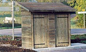 Public area multi-function shelter