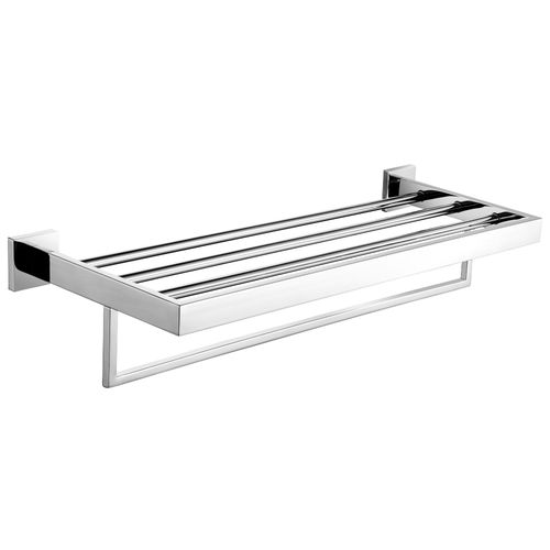 3-bar towel rack / wall-mounted / stainless steel