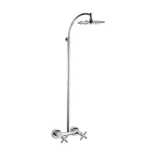 wall-mounted shower set / contemporary / with fixed-column shower head