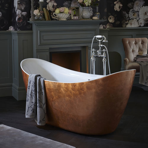 free-standing bathtub / oval / acrylic / double
