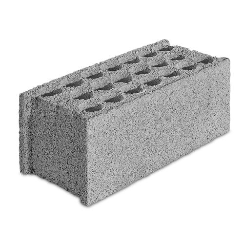 hollow concrete block / solid / perforated / for load-bearing walls