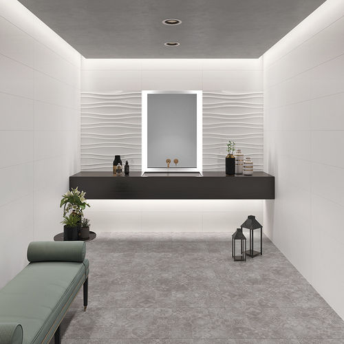 indoor tile / wall / ceramic / polished