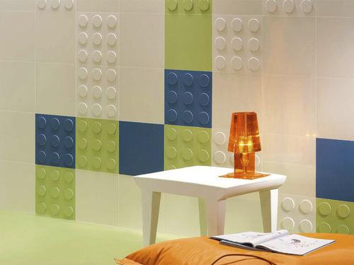 indoor tile / wall / ceramic / embossed