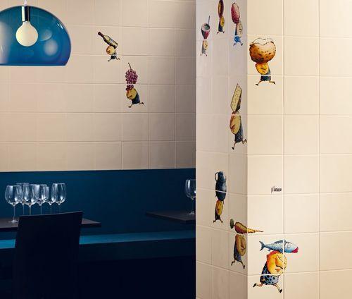 indoor tile / wall / ceramic / children's pattern