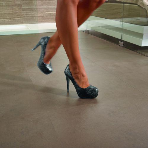 indoor tile / floor / ceramic / satin
