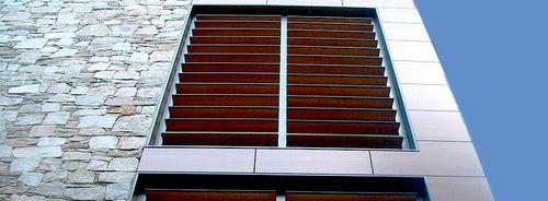 sliding shutter / HPL / window / louvered