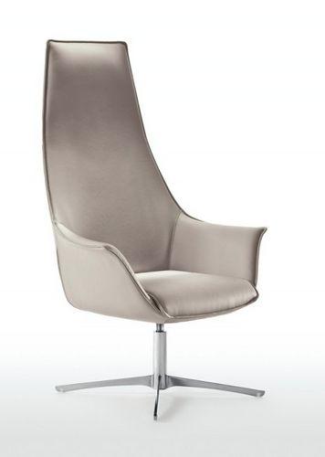 contemporary armchair / polyurethane / with headrest / swivel
