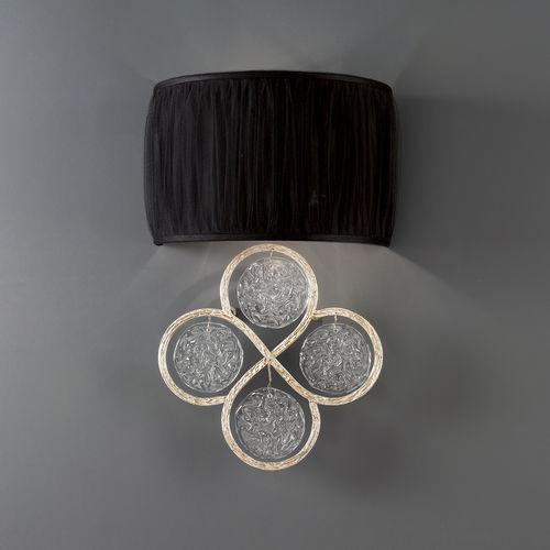 Contemporary wall light / bronze / glass / fabric LINES : AP1430/2 Serip Organic Lighting