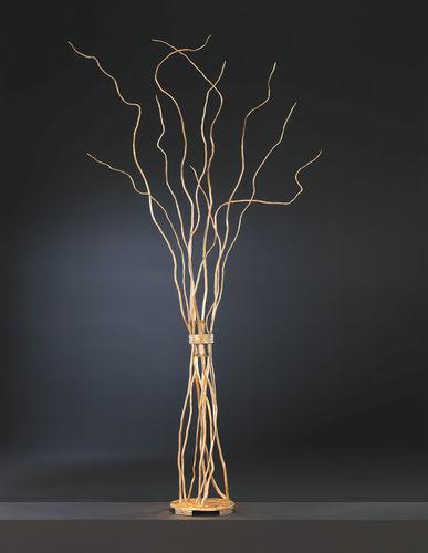 floor lamp / original design / bronze / handmade