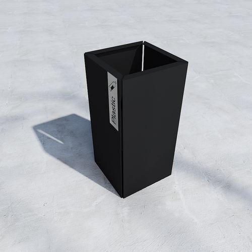 public trash can / metal / contemporary