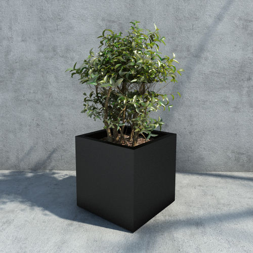 metal planter / square / rectangular / contemporary