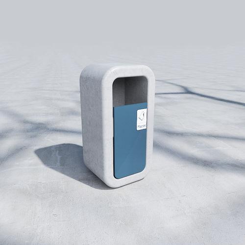 Public trash can / metal / concrete / recycling KID : 415 by Fábio Sousa SIT URBAN DESIGN