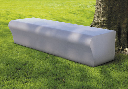 public bench / contemporary / cement-glass composite