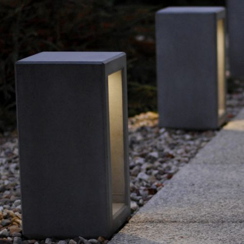 security bollard / concrete / removable / luminous