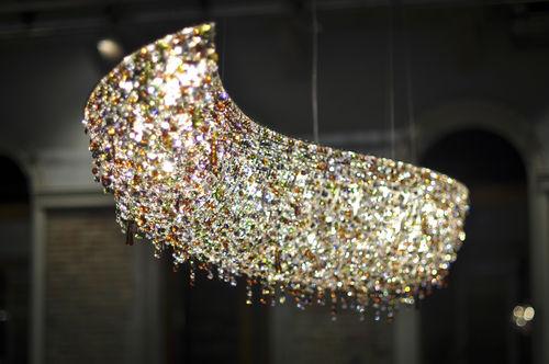 Contemporary chandelier / crystal / handmade VAGUE Manooi