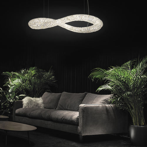 Contemporary chandelier / crystal / LED INFINITY Manooi