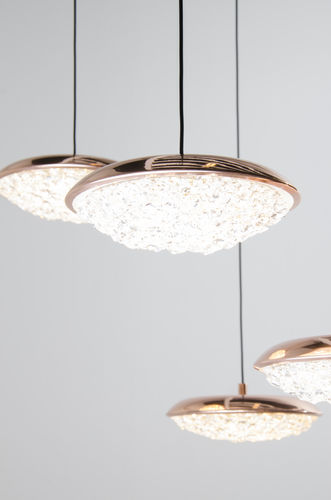 pendant lamp / contemporary / brass / crystal