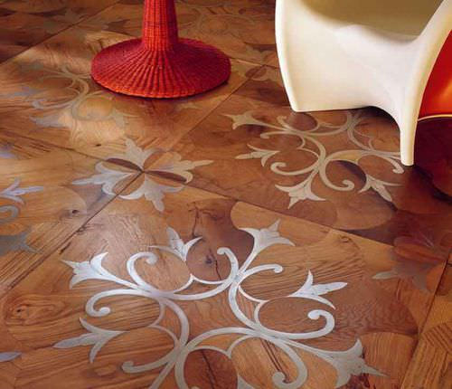 Solid wood flooring / glued / antique oak / inlaid ALSR: 002 I VASSALLETTI