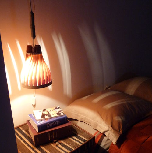 Hanging lamp / original design / wooden / handmade VOLUPTE 16 LairiaL